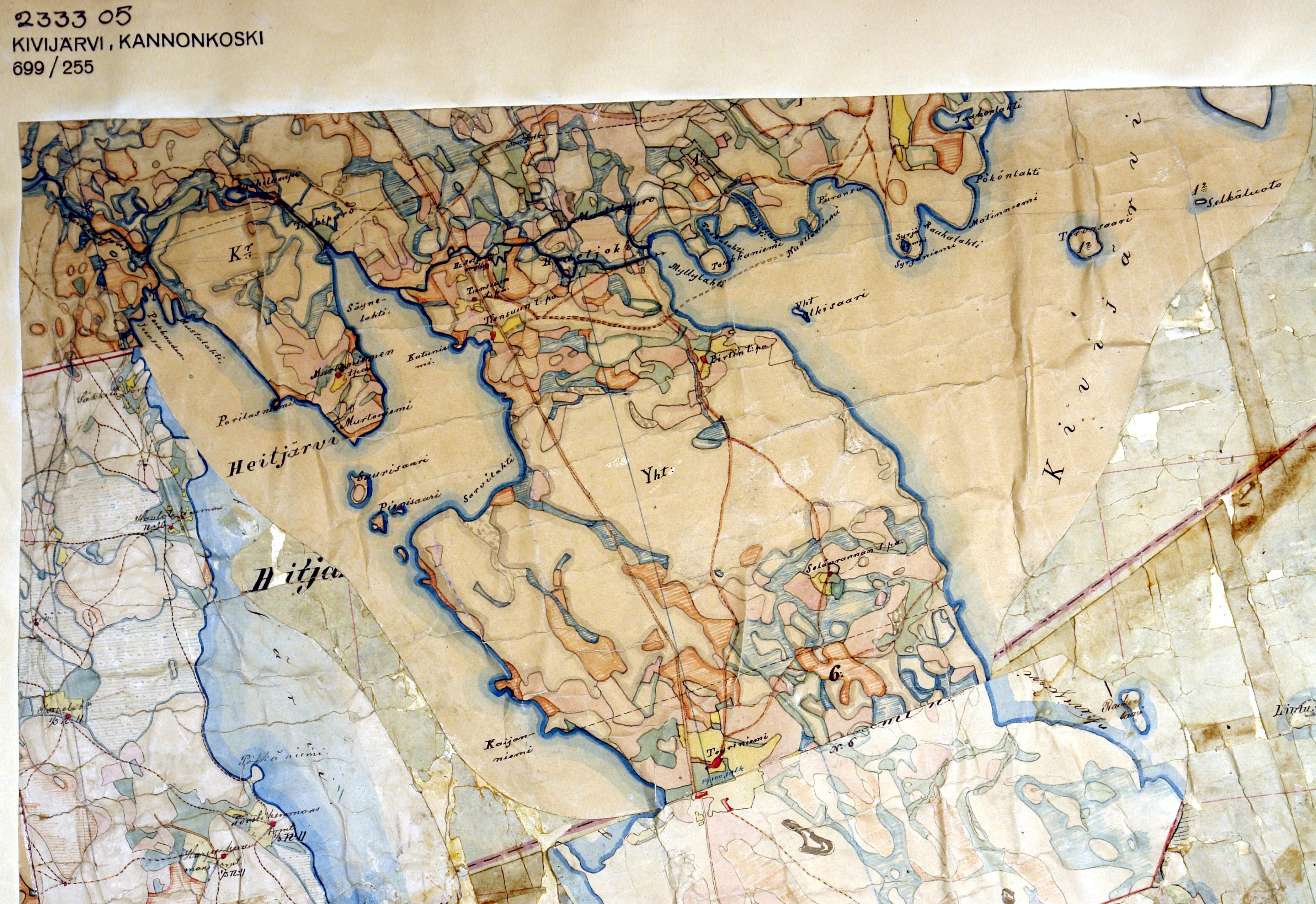 Historialliset Kartat Kannonkosken Kunta